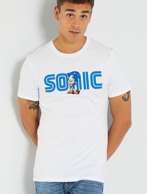 T-shirt 'Sonic'                             blanc