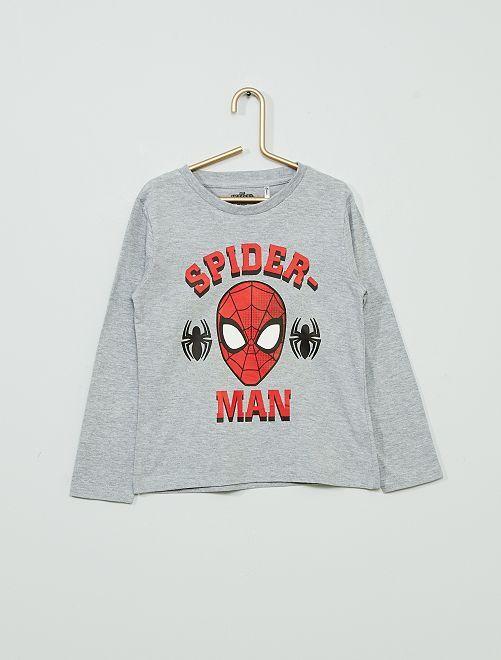 T-shirt 'Spider-Man'                             gris chiné
