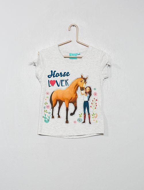 T-shirt 'Spirit' de 'DreamWorks'                             gris chiné
