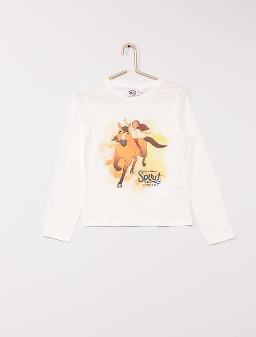 T-shirt 'Spirit'                                         ecru