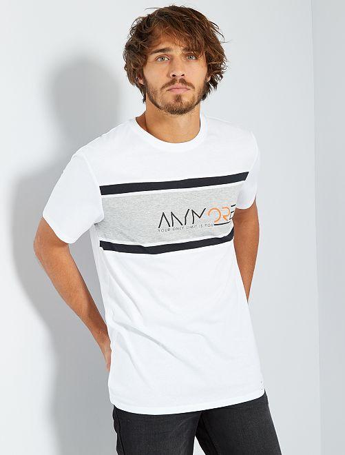 T-shirt sport 'éco-conception'                                         blanc