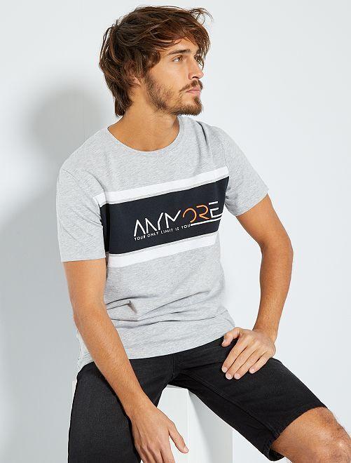 T-shirt sport 'éco-conception'                                         gris clair chiné