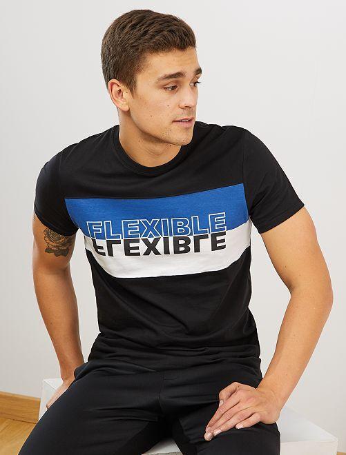 T-shirt sport 'éco-conception'                                         noir/bleu/blanc