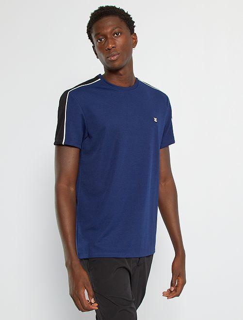 T-shirt sport en piqué                                         bleu marine