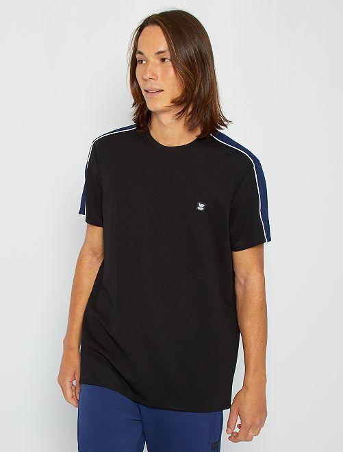 T-shirt sport en piqué                                         noir