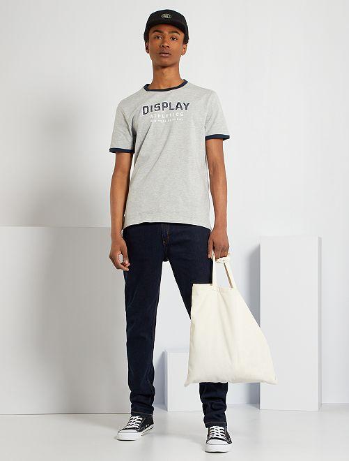 T-shirt sport                                         gris/marine
