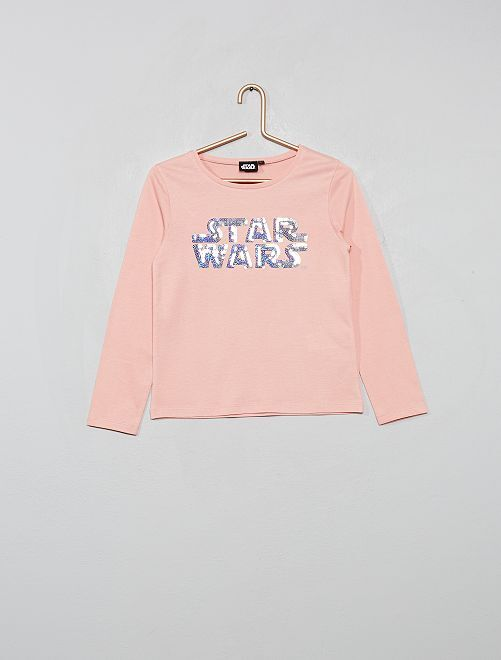 T-shirt 'Star Wars' à sequins                             rose
