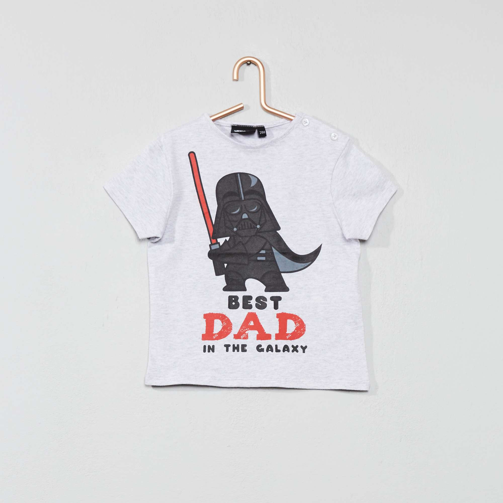 9420f2f16ad5c T-shirt 'Star Wars' Bébé garçon - gris chiné - Kiabi - 7,00€