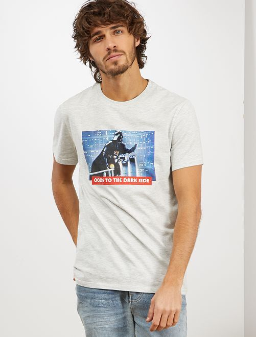 T-shirt 'Star Wars'                                         gris clair chiné