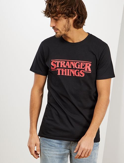 T-shirt 'Stranger Things'                             noir