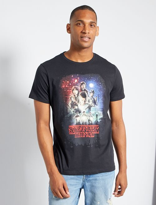 T-shirt 'Stranger Things'                             noir