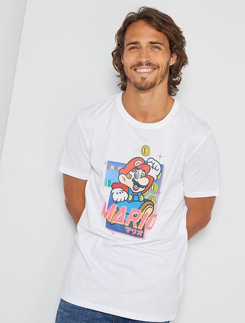 T-shirt 'Super Mario'                             blanc