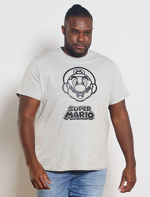 T-shirt 'Super Mario'                             gris clair chiné