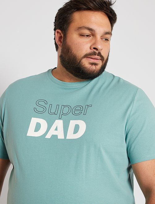 T-shirt 'super frère' éco-conçu                                 vert d'eau