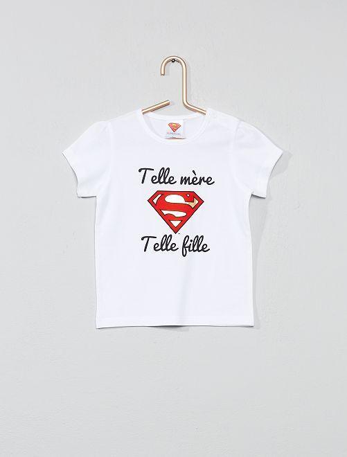 T-shirt 'Supergirl'                             blanc