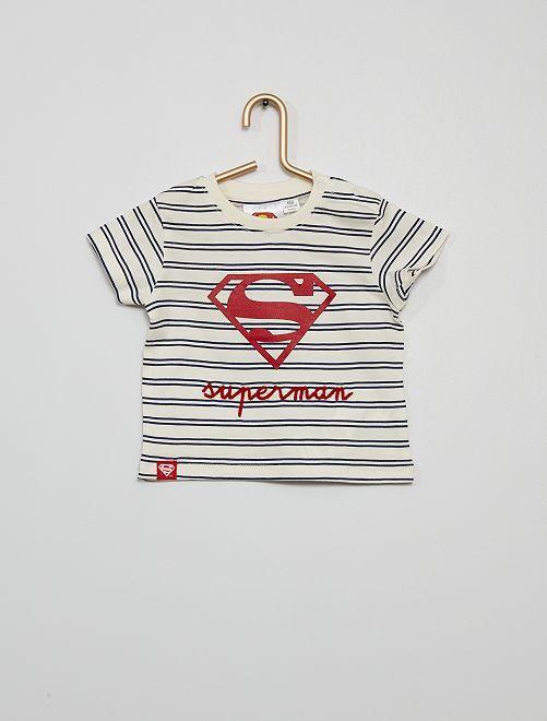 T-shirt 'Superman'                                         blanc/rayé
