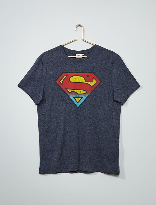 T-shirt 'Superman'                             bleu gris