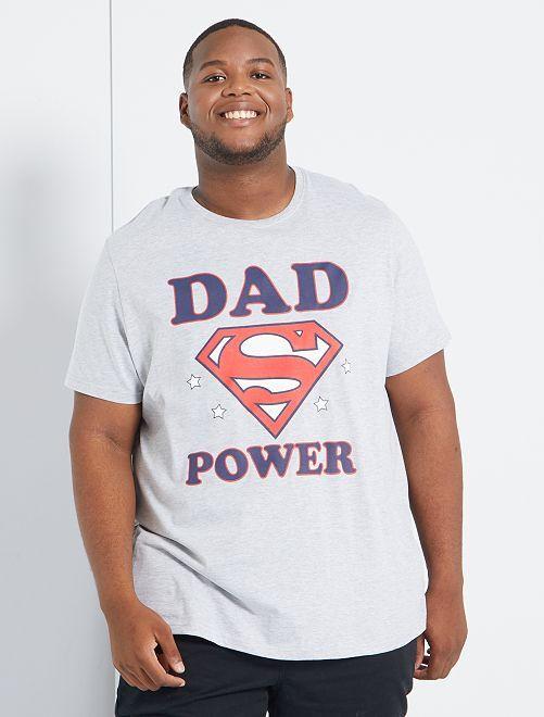 T-shirt 'Superman'                             gris clair chiné