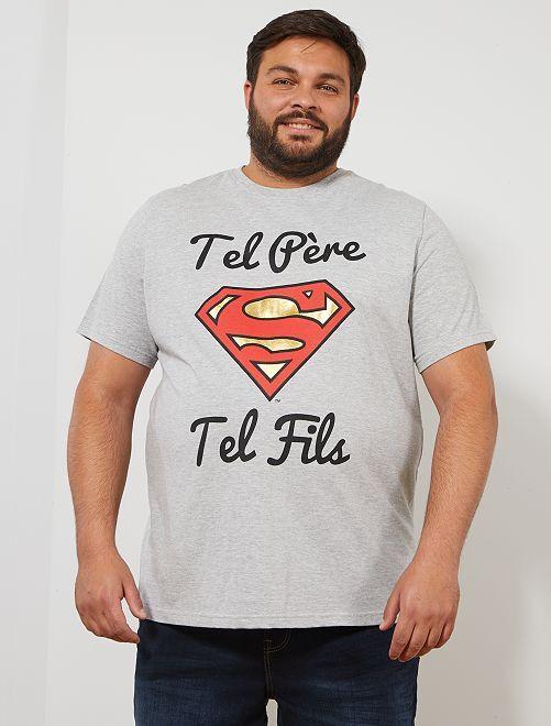 T-shirt 'Superman'                             gris