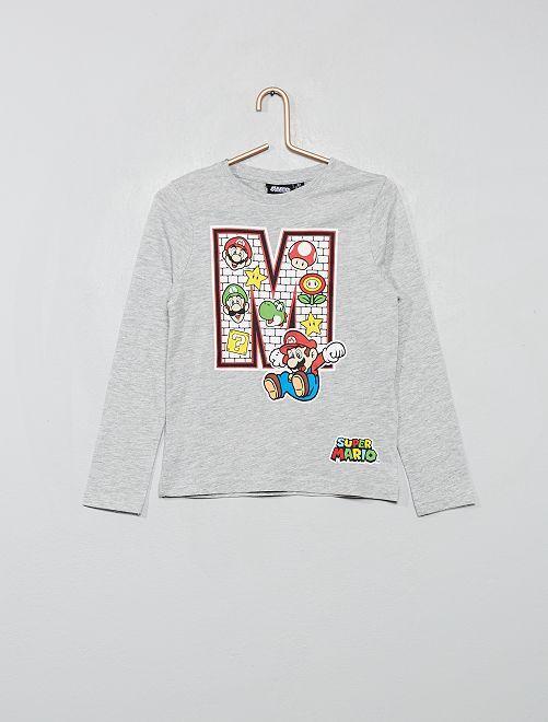 T-shirt 'SuperMario'                                         gris
