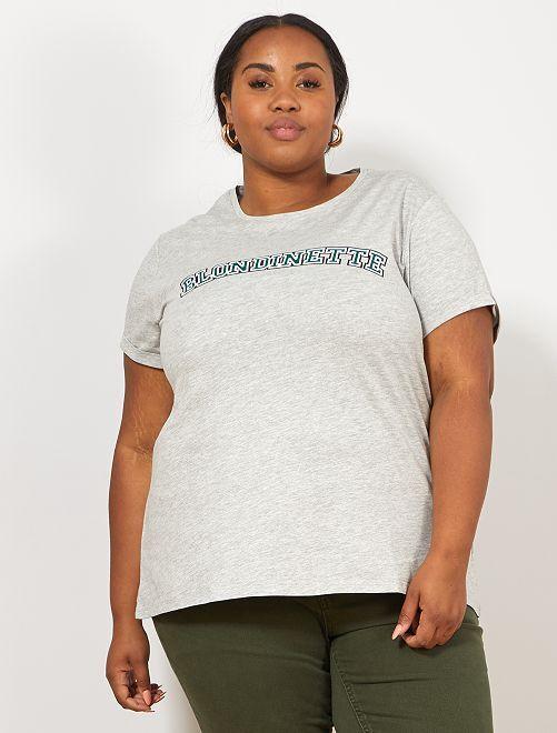 T-shirt T-shirt 'Blondinette'                                         blondinette