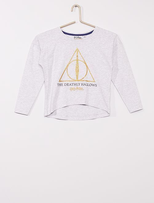 T-shirt tagué 'Harry Potter'                                                     gris