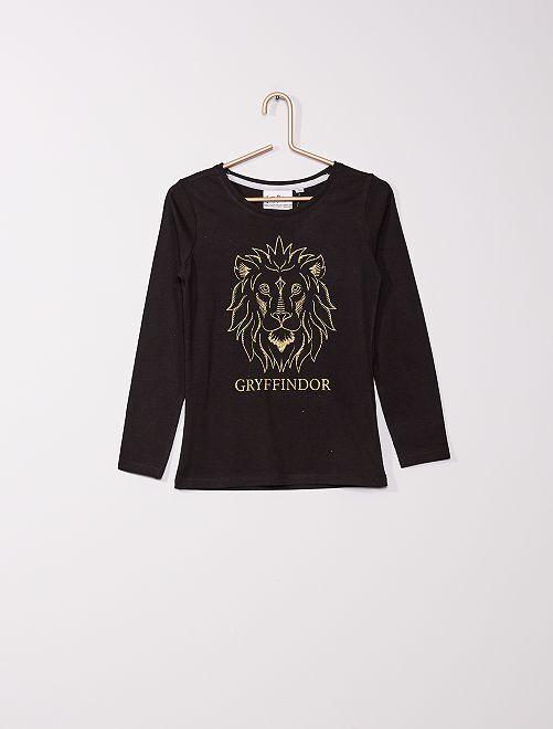 T-shirt tagué 'Harry Potter'                                                     noir