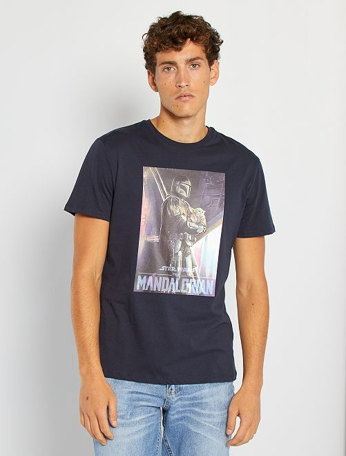 T-shirt 'The Mandalorian'                             bleu marine