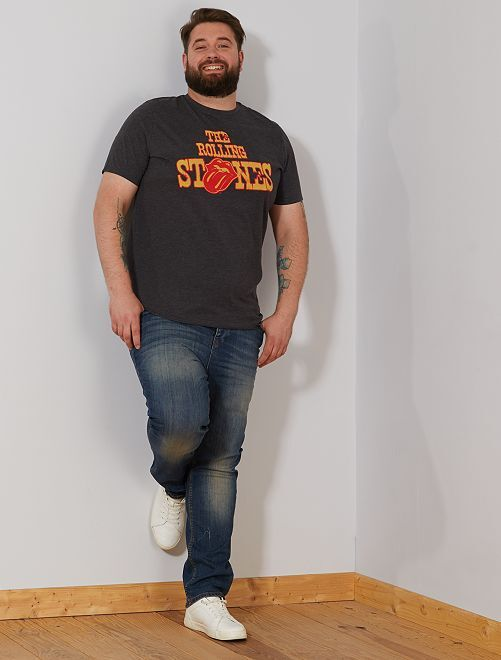 T-shirt 'The Rolling Stones'                             anthracite chiné