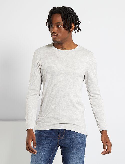 T-shirt Thermolactyl 'Damart'                                                     gris chiné