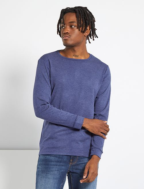 T-shirt Thermolactyl 'Damart'                                                                 marine chiné