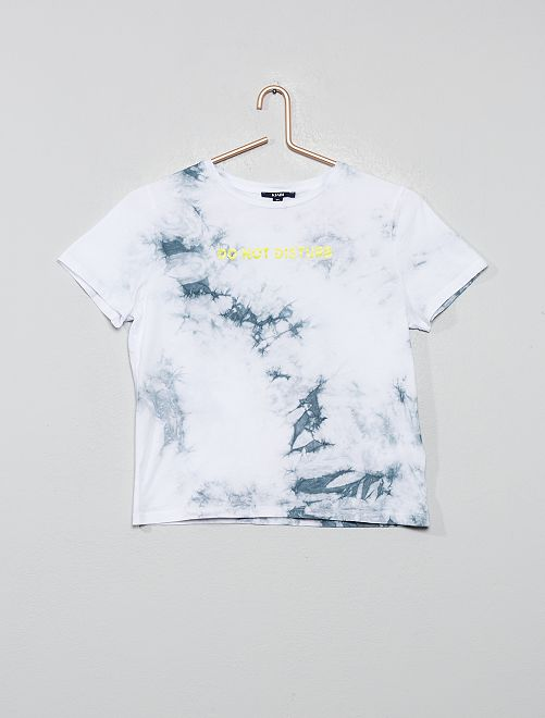 T-shirt tie and dye                                         blanc/gris