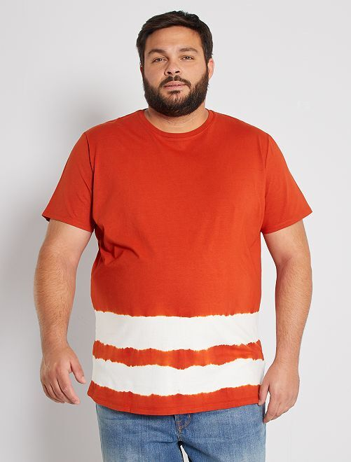 T-shirt 'Tie and Dye'                                         rouille