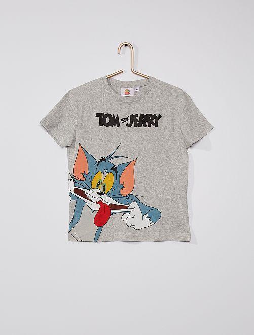 T-shirt 'Tom et Jerry'                             gris chiné