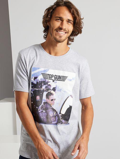 T-shirt 'Top Gun'                             gris