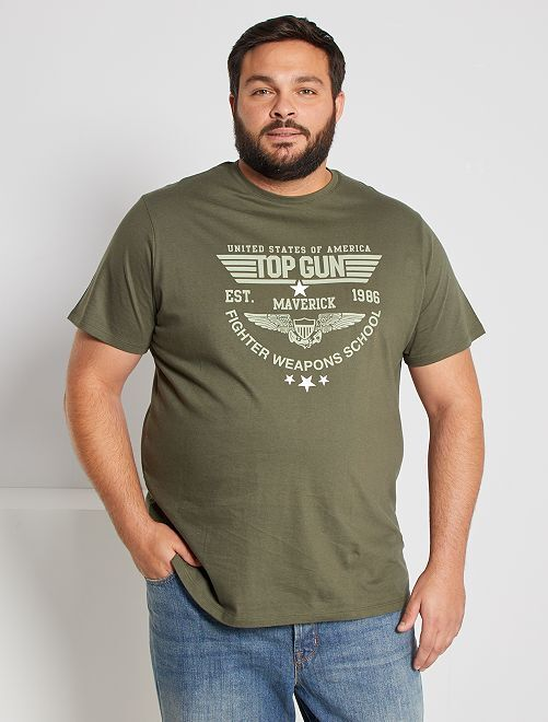 T-shirt 'Top Gun'                             kaki