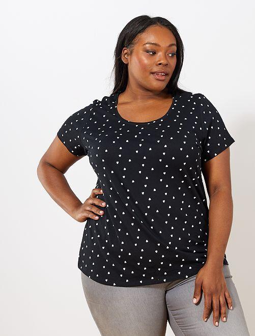 T-shirt total imprimé                                                                 noir