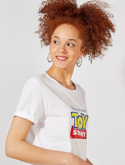 T-shirt 'Toy Story'                             blanc Femme