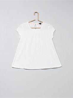 Tee shirt, débardeur - T-shirt uni avec plis - Kiabi