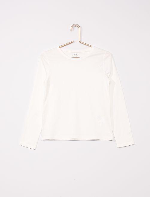 T-shirt uni éco-conçu                                         blanc