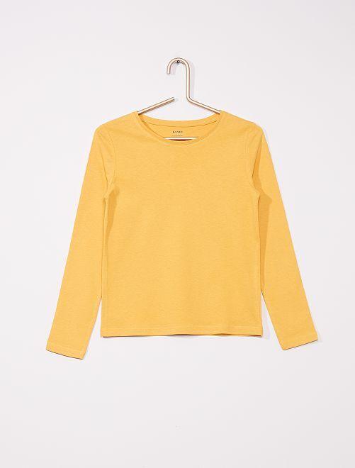 T-shirt uni éco-conçu                     jaune