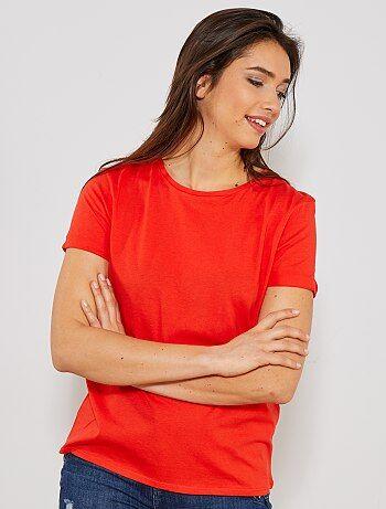 61bad9963fea1 Soldes t-shirt imprimé femme, teeshirts graphiques à message pas ...