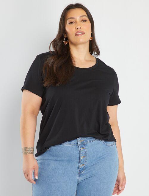 T-shirt uni                                                                                                                                                                                                                                                                                                                                                                                                                 noir
