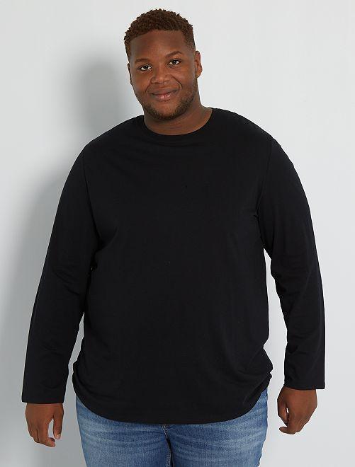 T-shirt uni pur coton                                                                             noir