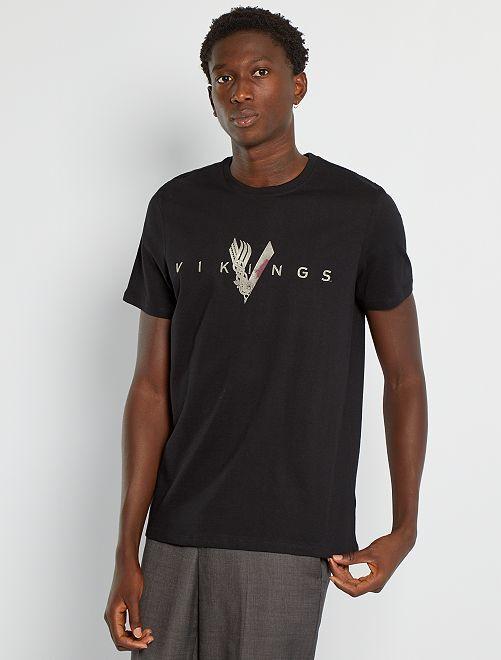 T-shirt 'Vikings'                             noir