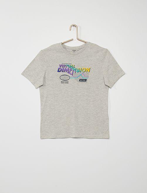 T-shirt 'Virtual dimension'                                                                                                                                         gris