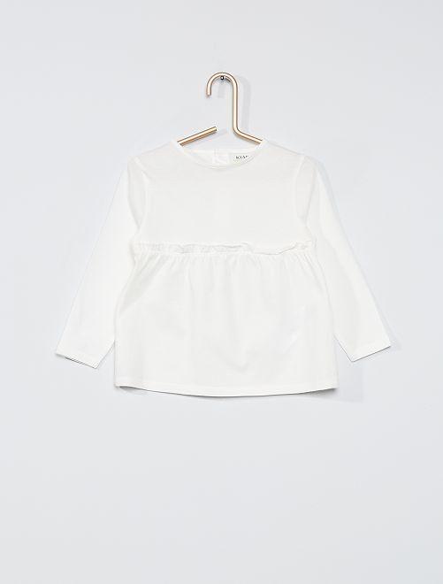 T-shirt volanté                                                         blanc