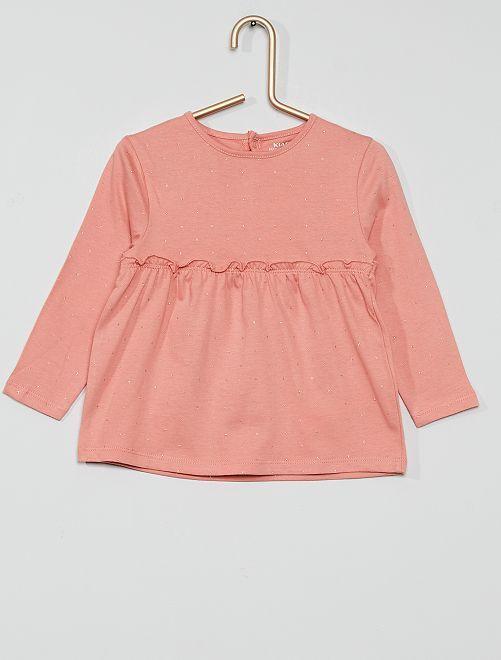 T-shirt volanté                                                         ROSE