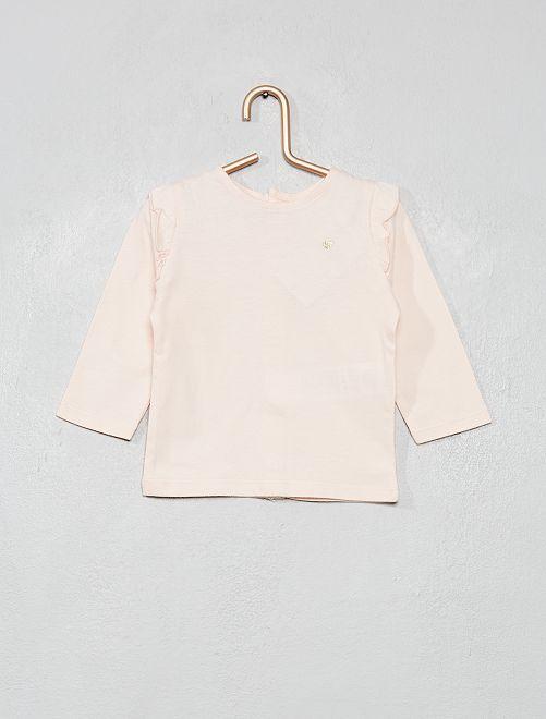 T-shirt volanté                                                                 rose clair