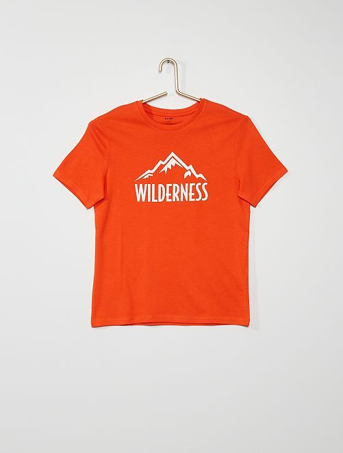 T-shirt 'Wilderness'                                                                                                                                         orange